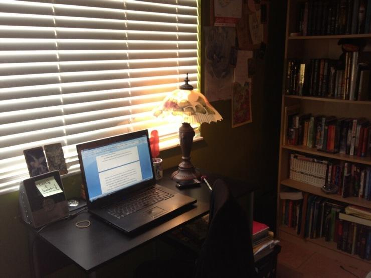 My writing corner, my art form : )